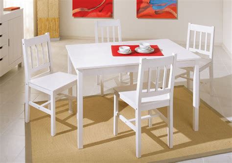 table cuisine ensemble table 4 chaises blanc