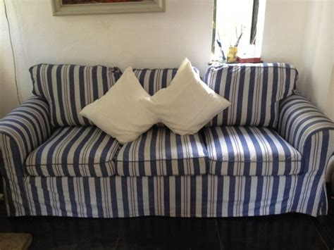 Ektorp Loveseat Cover Sale by Ikea Ektorp Replacement Cover Blue Striped Sofa Cover For