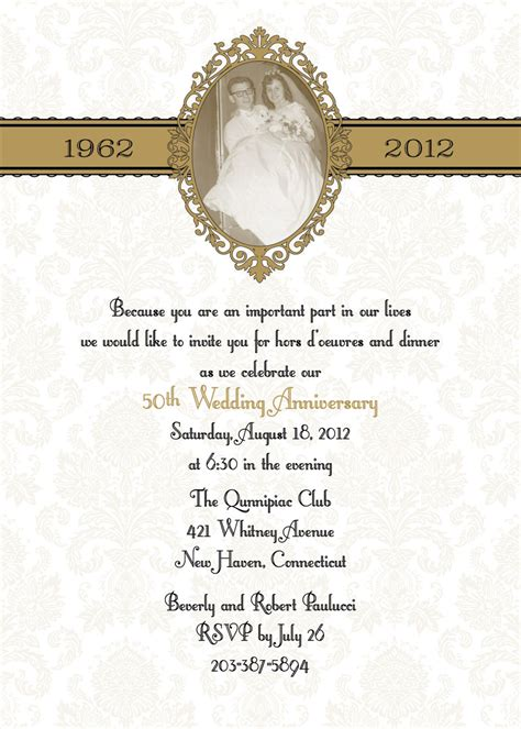 100 Damask 50th anniversary wedding invitations ESPECIALLY for