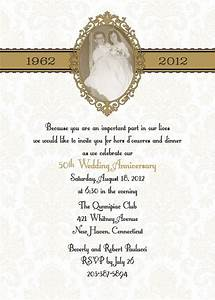 damask 50th anniversary wedding invitation diy print by itcoa With 50th wedding anniversary invitations to print