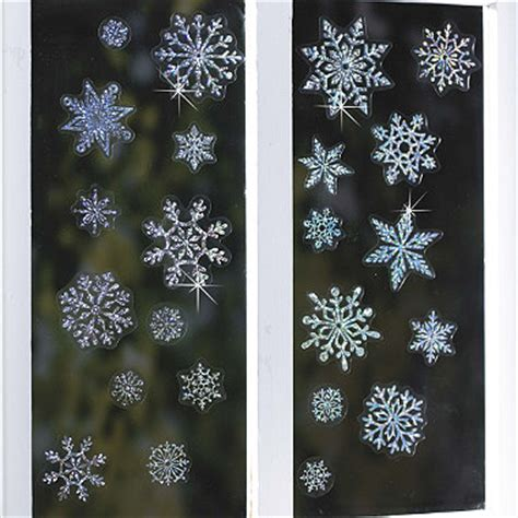 sparkly snowflakes window decorations  christmas