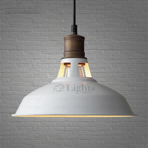 loft design country white industrial pendant light