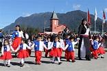 This is a parade celebrating the Fiestas Patrias, Chile's ...