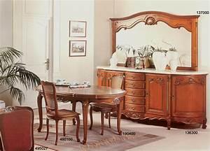 salle a manger avec grand buffet demi lune de style With meuble de salle a manger avec salle a manger merisier