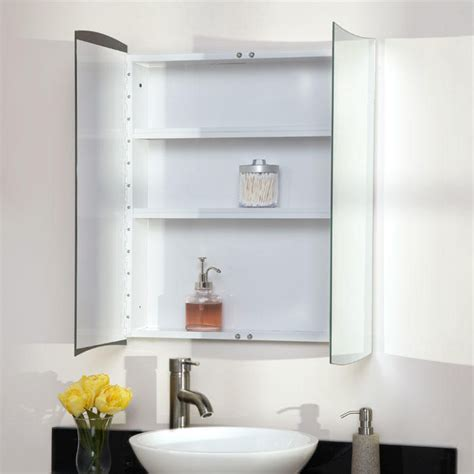 gatewood stainless steel recessed medicine cabinet white