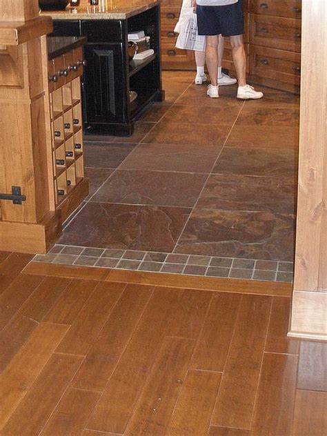 wood to tile transition pattern