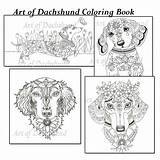 Coloring Dachshund Pages Dog Dogs Adult Weiner Weenie Puppies Wiener Doodle Haired Long Dachshunds Daschund Template Printable Para Weebly Puppy sketch template