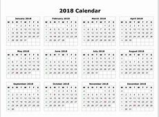 Calendar 2018 all months 2018 Calendar printable for