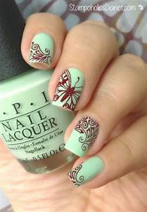 Butterfly stamping pretty nails