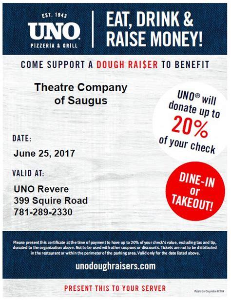 uno fundraising event theatre company saugus