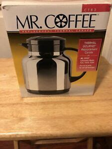 Mr coffee 12 cup glass replacement carafe black lid & handle. CT83 - Mr. Coffee Stainless Steel Thermal Carafe Replacement. NEW | eBay