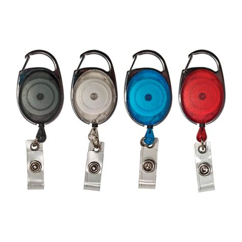 advantus retractable carabiner style badge reel  badge