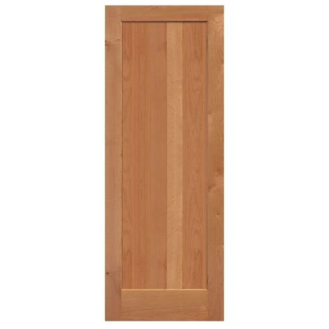 home depot solid wood interior doors masonite 30 in x 84 in knotty alder 1 panel shaker flat