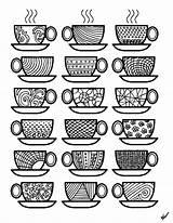 Coloring Coffee Colouring Cups Adult Adults Printable Theme Popsugar Sheets Printables Disegni Don Da Mandala Complex Living Kid Again Gratis sketch template