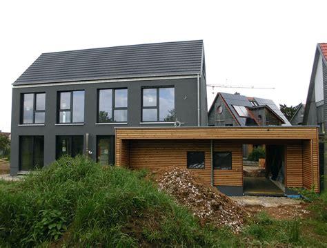 Einfamilienhaus Modern Holzhaus Satteldach Holzfassade