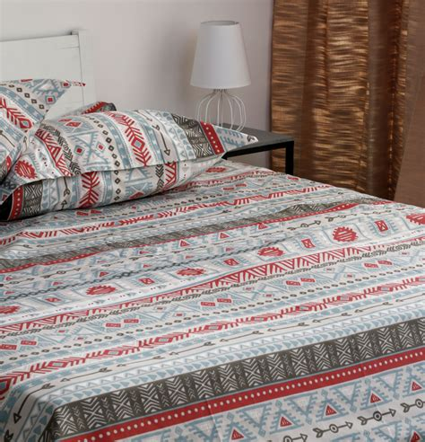 Bed Sheets by Aztec Cotton Bed Sheet With 2 Pillow Covers Thoppia