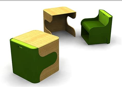 Pkolino Table And Chairs Uk by Smart Cube That Turns Into Desk And Chair House Of