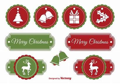 Christmas Labels Vector Vecteezy Clipart Graphics