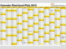 Feiertage 2019 RheinlandPfalz + Kalender