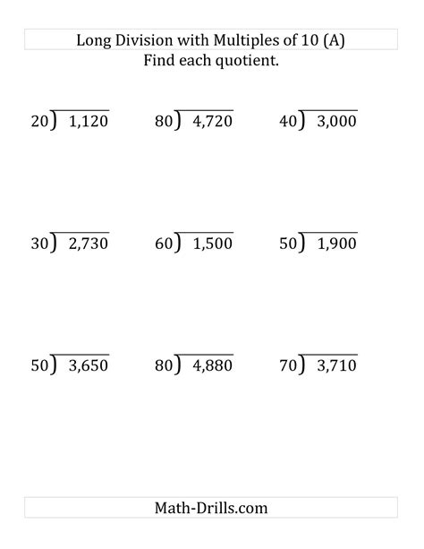 12 Best Images Of Fourth Grade Worksheets Division With Remainder  Long Division With