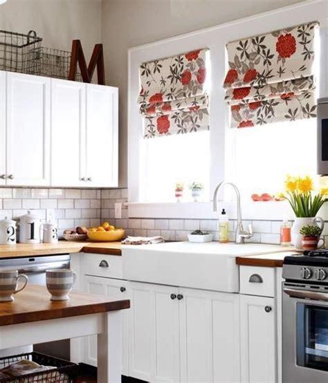 cocinas rusticas mejor cortinas  estores cocinas