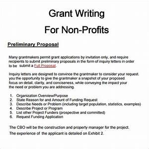 6 grant proposal templates pdfdoc download for Grant template for nonprofit