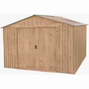 abri de jardin en metal imitation bois 775m2 duramax With abri de jardin metal imitation bois