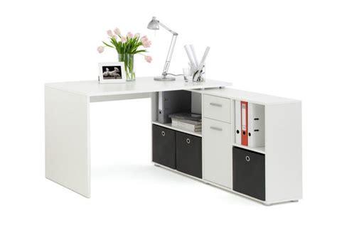 bureau d angle blanc pas cher bureau d 39 angle réversible rob blanc design pas cher sur
