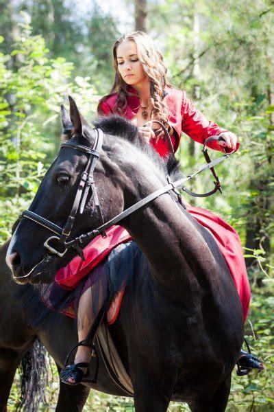 Sexy Women Ride On Horse Stock Photo Anakondasp