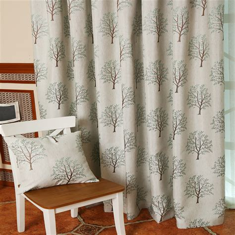 curtains with trees on them artful bedroom modern and
