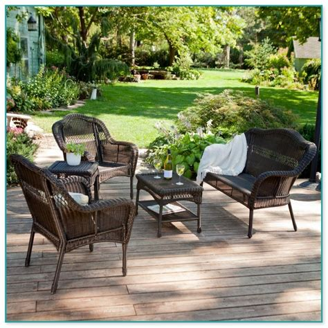 all weather wicker conversation sets