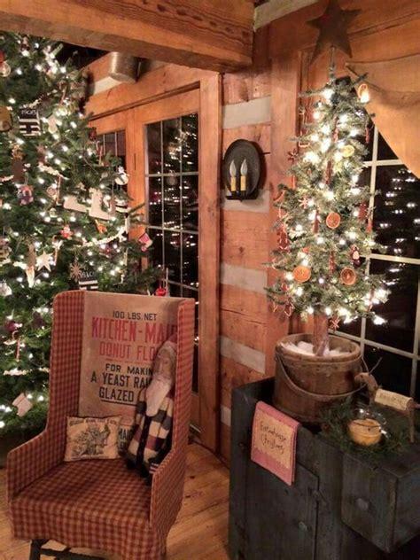 ideas  primitive country christmas  pinterest