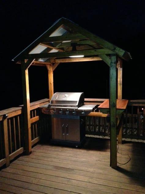 grill gazebo  outdoor light home ideas  pinterest deck covered decks