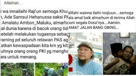 cek fakta hoaks saksi kubu prabowo sandi  maluku dibunuh