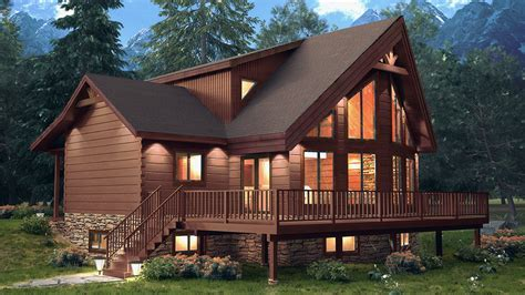 Mountain View log homes with floor plans