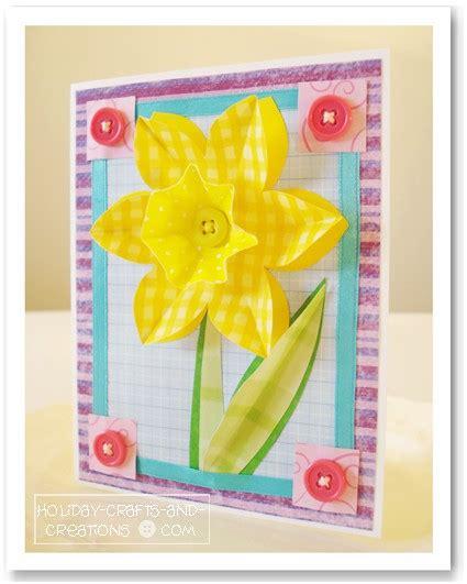 craft card ideas scrapbooking card ideas daffodil crafts 1452