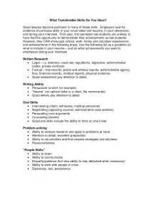 transferable skills exles resume attention to detail skills