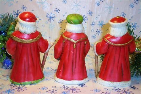 Home Interiors 4 Seasons Figurines : Homco Santa Figurines Home Interiors 5610 Set Of 3