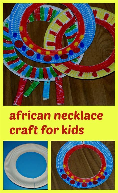 african necklace craft  kids african art  kids