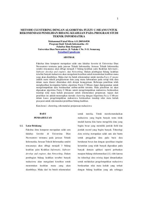 Jurnal metode clustering dengan algoritma fuzzy c means