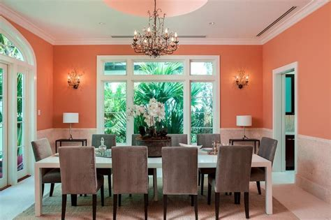 Orange, White and Gray Dining Room   Interiors By Color