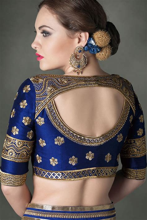 25 best ideas about blue saree on saree saree blouse and indian blouse designs