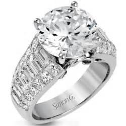 2ct engagement ring ben garelick jewelers simon g 18k large center engagement ring