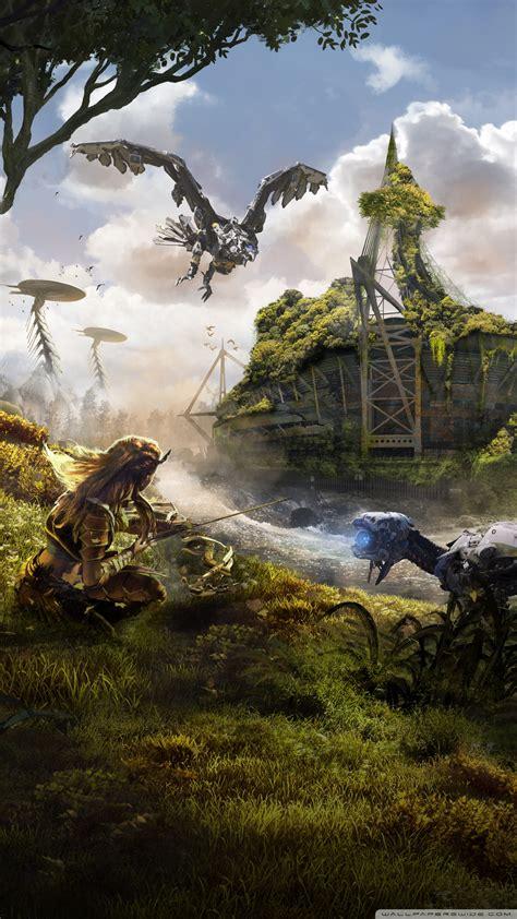 horizon  dawn aloy  hunter  archer  hd desktop