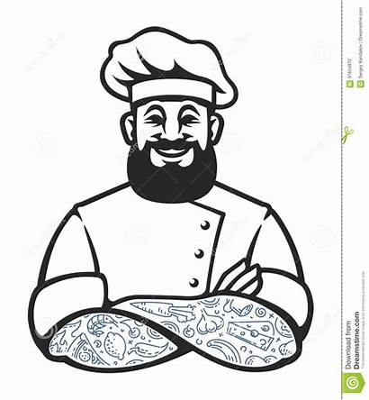 Chef Vector Icon Hipster Cook Tattoos Illustration