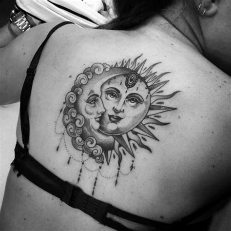 Tatouage Lune Soleil Femme