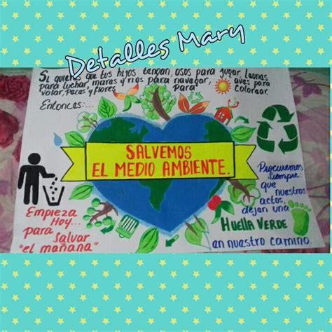 cartelera del medio ambiente proyectos en foami pinterest