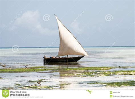 Traditional Fishing Boat Zanzibar by Traditional Boat In Zanzibar Royalty Free Stock Photos