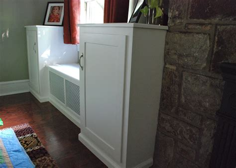 hand crafted window seat wall unit  sheppards custom