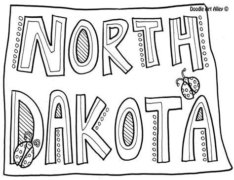 North Dakota State Flag Coloring Page